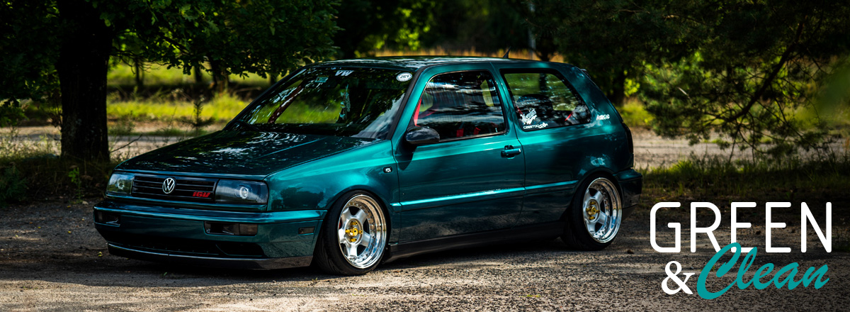VW Golf MK3 Green & Clean