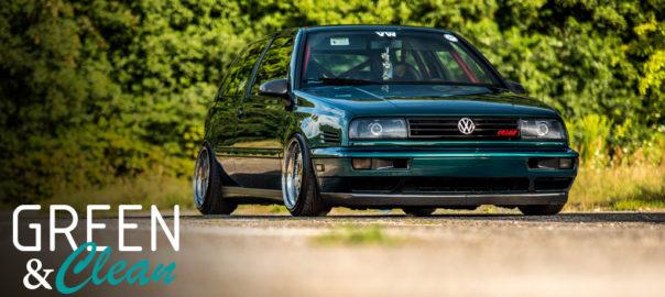 VW Golf MK3 Green & Clean